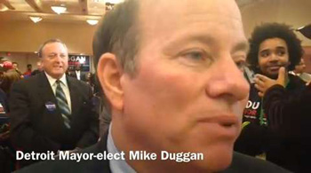 Mike Duggan waged a historic write-in campaign to become the first white mayor in four decades of Detroit, which is more than 80% black.
