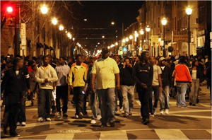 Black youths are gathering and congregating in downtowns and upscale venues in cities all across America, committing random acts of violence or just causing menacing mayhem. According to some reports, this racial violence and lawlessness are part of a nationwide pattern of hundreds of episodes that have occurred in more than 50 cities during the last several years.