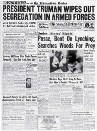 The front page of the Chicago Defender newspaper for July 31, 1948.