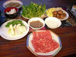 Sukiyaki Ingredients