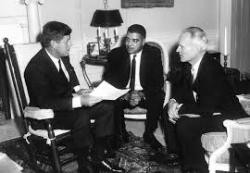 Whitney Young Jr. with John F. Kennedy