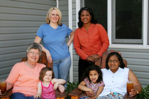 three generations, two races
