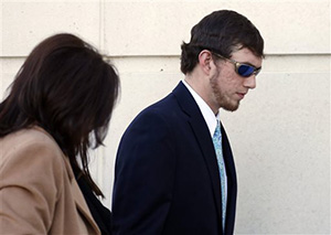 John Louis Blalack enters the federal courthouse in Jackson, Miss., Wednesday, Jan. 7, 2015 for a change-of-plea hearing in relation to a series of 2011 racial beatings that resulted in the death of a Jackson man. Blalack was indicted in 2014 at the end of a long investigation sparked by the June 2011 death of James Craig Anderson who was run over by a pickup truck outside a Jackson motel.