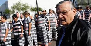 Arizona Sheriff Joe Arpaio with convict