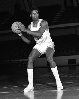 This undated photo provided by the University of Tennessee shows Bernard King during his NCAA college basketball days with the Tennessee Volunteers. King was a three-time Southeastern Conference player of the year and an All-American at Tennessee. He had 25.8 points and 13.2 rebounds per game at Tennessee and is the only Vol to average a double-double for his career. He continues to own the school's single-season scoring record with 26.4 points per game in 1974-75.