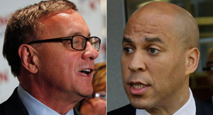 Booker beat Tea Party conservative Republican challenger Steve Lonegan, a former mayor of the town of Bogota, 55 percent to 44 percent.