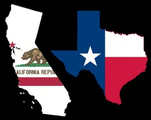 Texas and California are two states with the largest population of Hispanics and illegal immigrants.