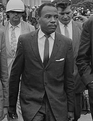 Police and members of the National Guard protected James Meredith when he first enrolled at Ole Miss in 1962. Meredith hopes the vandalism of his likeness does not discourage African-American students from attending his alma mater.