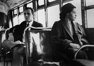 Parks' refusal to go to the back of the bus, which set off the historic Montgomery Bus boycott, is the seminal incident that served as the backdrop for Martin Luther King, Jr.'s to give leadership to one of this nation's most defining periods in its history.
