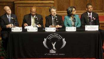 five mayors discussing racism