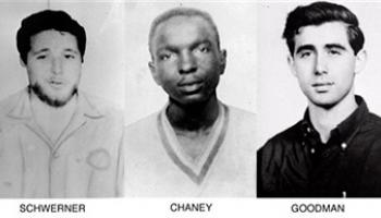 "This combination made from pictures distributed by the FBI in 1964 shows, from left, Michael Schwerner, James Chaney, and Andrew Goodman, civil rights workers who were killed in the ""Mississippi Burning"" case of 1964. The men are going to be posthumously awarded the Presidential Medal of Freedom on Monday, Nov. 24, 2014, but the honor is not sitting well with some of their relatives."