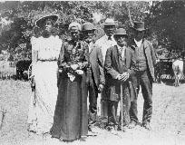 black and white photo of African-American's celebrating Juneteenth