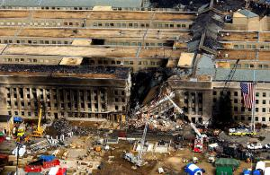 The damaged Pentagon after 9/11