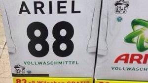 "Detergent manufacturer Procter & Gamble has kicked up a froth in Germany after unintentionally placing a neo-Nazi code on promotional packages for Ariel washing powder. The number 88 stands for ""Heil Hitler."""