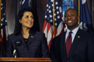 Tim Scott had just been elected to a second U.S. House term when Gov. Nikki Haley appointed him in 2012 after Jim DeMint resigned. When he took office in early 2013, Scott became the Senate's only black member and the first black senator ever from South Carolina. This November's election is for the two years that remain in DeMint's term.