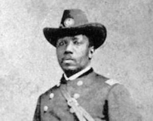 In early 1865, after helping to organize thousands of African-American troops for the Union, Delany was made a major in the U.S. Army by President Lincoln. He was the first black man to achieve that high of a rank.
