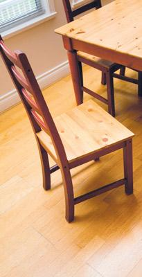 wood tables and chair