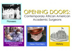 Opening Doors, an exhibit that displays the work of African-American academic surgeons, is now on display at Marshall University.