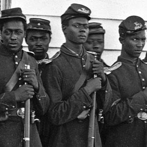 black Union soldiers from the Civil War